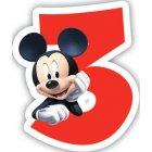 Bougie chiffre 3 Club Mickey