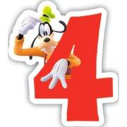 Bougie chiffre 4 Club Mickey - Dingo
