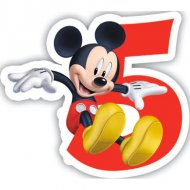 Bougie chiffre 5 Club Mickey