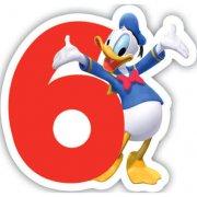 Bougie chiffre 6 Club Mickey - Donald