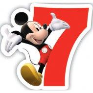 Bougie chiffre 7 Club Mickey