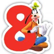 Bougie chiffre 8 Club Mickey - Dingo