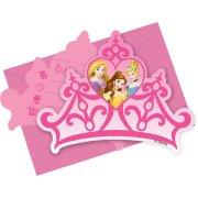 6 Invitations Princesses Disney Dreaming