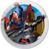 8 Petites Assiettes Batman vs Superman