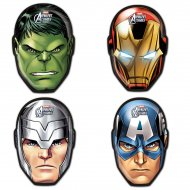 4 Assiettes Avengers Rassemblement