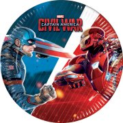 8 Petites Assiettes Captain America Civil War