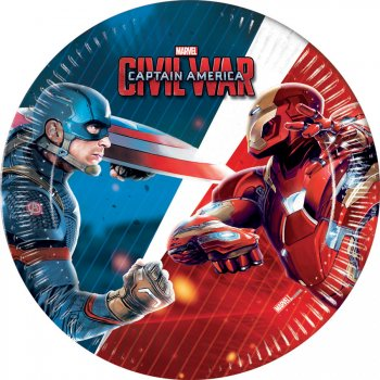 8 Petites Assiettes Captain America Civil War