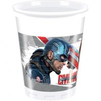 Contient : 1 x 8 Gobelets Captain America Civil War