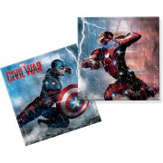 20 Serviettes Captain America Civil War