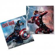 20 Serviettes Captain America Civil War