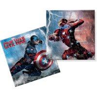 Contient : 1 x 20 Serviettes Captain America Civil War