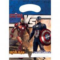 Contient : 1 x 6 Pochettes Cadeaux Captain America Civil War