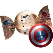 6 Invitations Captain America Civil War