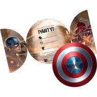 6 Invitations Captain America Civil War