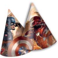 Contient : 1 x 6 Chapeaux Captain America Civil War