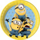 8 Assiettes Lovely Minions