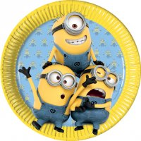 Contient : 1 x 8 Assiettes Lovely Minions