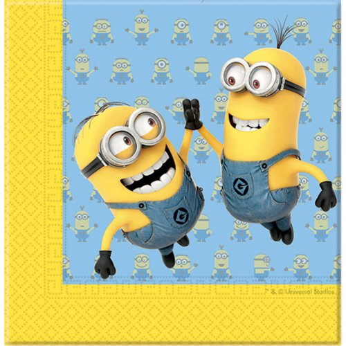 20 Serviettes Lovely Minions