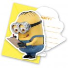6 Invitations Lovely Minions