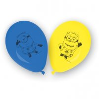 Contient : 1 x 8 Ballons Lovely Minions