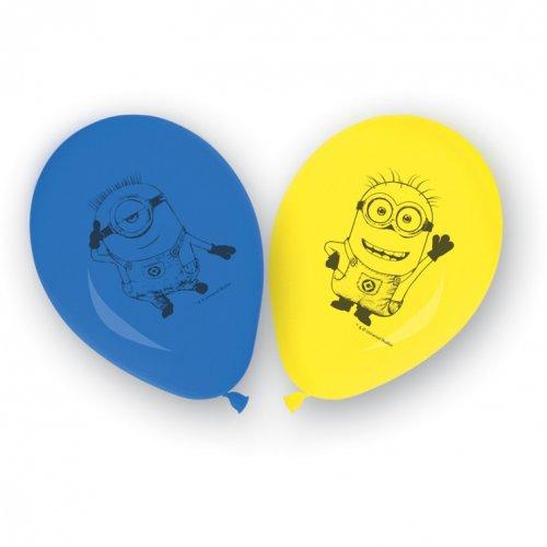 8 Ballons Lovely Minions