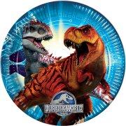 8 Assiettes Jurassic World Bleu