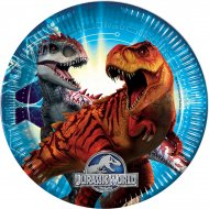 8 Assiettes Jurassic World Bleu