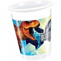 Contient : 1 x 8 Gobelets Jurassic World Bleu