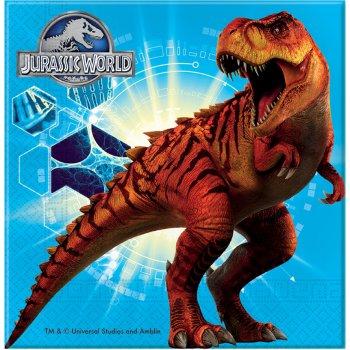 20 Serviettes Jurassic World Bleu