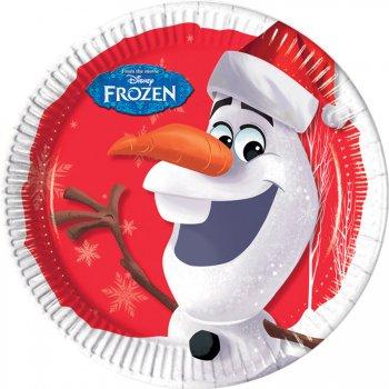 8 Assiettes Olaf Christmas
