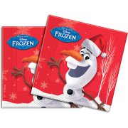20 Serviettes Olaf Christmas