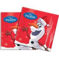 Contient : 1 x 20 Serviettes Olaf Christmas