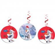 3 Guirlandes Spirales Olaf Christmas