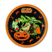 Contient : 1 x 8 Assiettes Star Wars Halloween