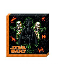 Contient : 1 x 20 Serviettes Star Wars Halloween