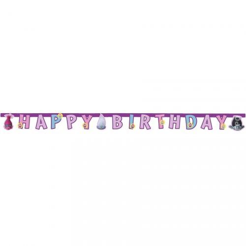 Guirlande lettres Happy Birthday Trolls
