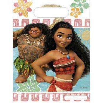 6 Pochettes Cadeaux Vaiana et Maui