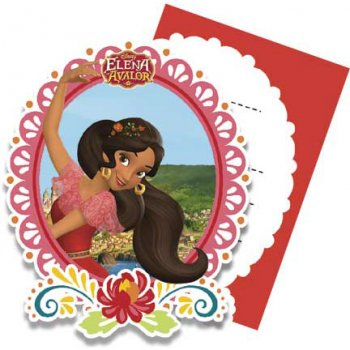 6 Invitations Elena d Avalor