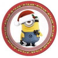 Contient : 1 x 8 Assiettes Minions Christmas