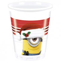 Contient : 1 x 8 Gobelets Minions Christmas