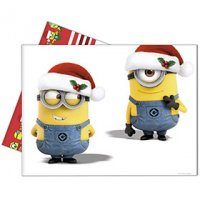 Contient : 1 x Nappe Minions Christmas