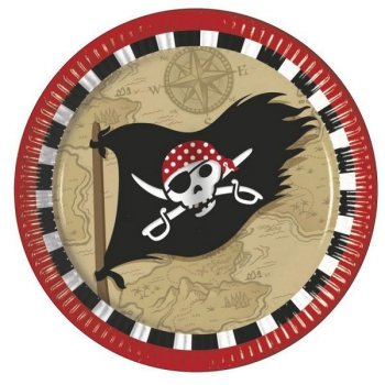 8 Assiettes Pirate Terreur