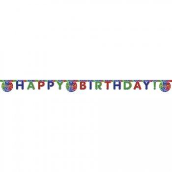 Guirlande lettres Happy Birthday Pyjamasques
