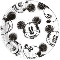 Contient : 1 x 25 Assiettes Mickey Vintage