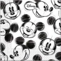 Contient : 1 x 25 Serviettes Mickey Vintage