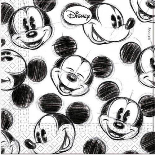 25 Serviettes Mickey Vintage