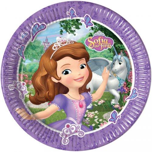8 Assiettes Princesse Sofia et la Licorne