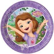 8 Petites Assiettes Princesse Sofia et la Licorne