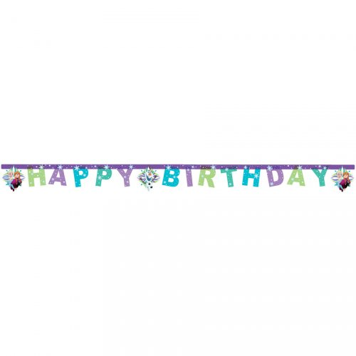 Guirlande Happy Birthday Reine des Neiges Frozen
