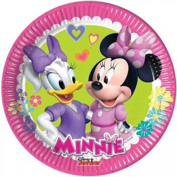 8 Petites Assiettes Minnie Happy